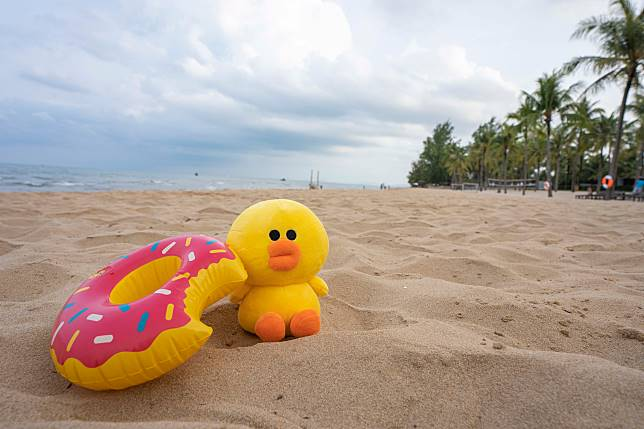 30公里長的私人沙灘。
