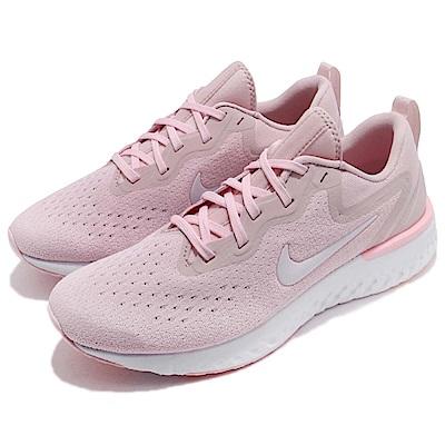 品牌: NIKE型號: AO9820-600品名: Wmns Nike Odyssey React配色: 粉紅色 白色特點: 跑步 跑鞋 路跑 緩震 回彈 透氣 女 粉 白
