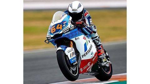 Bo Bendsneyder menempati peringkat ke-16 di FP1 Moto2 Spanyol. (Arsip Mandalika Racing Team SAG)