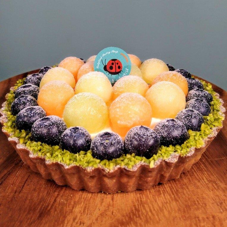 哈密瓜藍莓乳酪塔