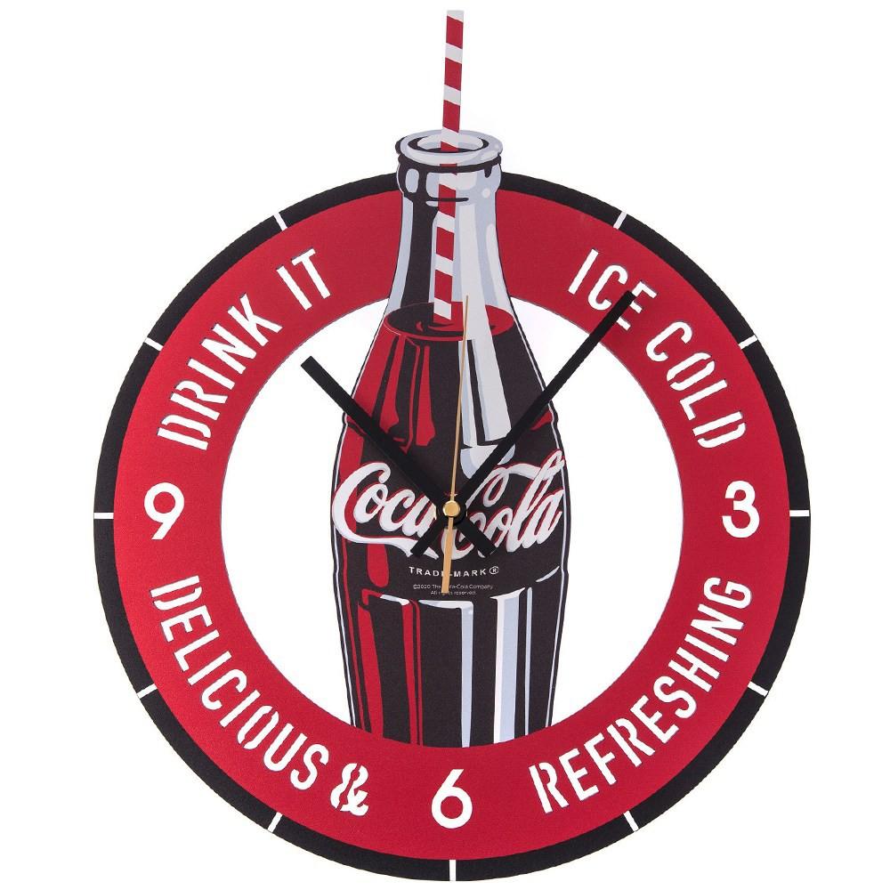 【商品特色】和樂自有品牌產品獨家設計款,經典 Coca-Cola 可口可樂 的 瓶裝造型 風格清晰面版、大數字與刻度 及 加長指針機芯採用 台灣製造 太陽牌 永鎮掃描機芯 (一年保固服務)超靜音設計,