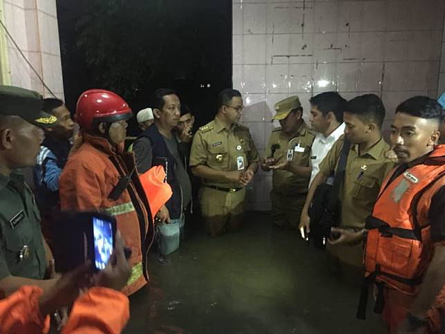 Image result for anies di banjir