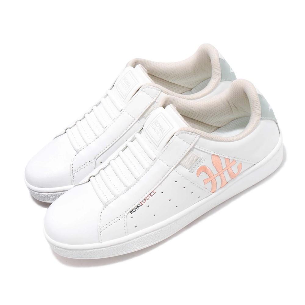 ROYAL ELASTICS 休閒鞋 Genesis 套腳 穿搭 女鞋 經典款 簡約 皮革 質感 球鞋 易穿脫 白 粉 [91992501]