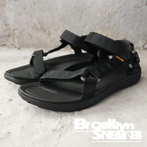 TEVA Sanborn Universal 黑 邊織 涼鞋 拖鞋 女 (布魯克林) TV1015160BLK