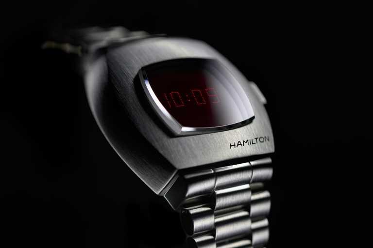 HAMILTON「PSR」腕錶,精鋼款╱24,300元。(圖╱HAMILTON提供)