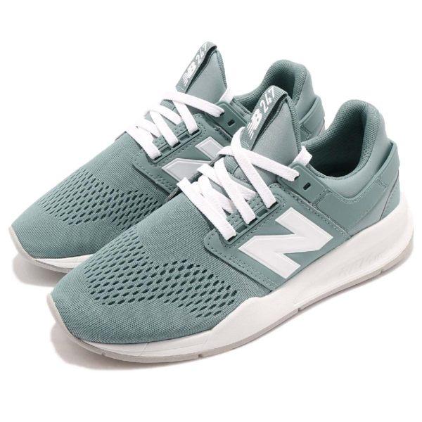 New Balance 慢跑鞋 NB 247 綠 白 二代 舒適緩震 運動鞋 女鞋【PUMP306】 WS247UFB