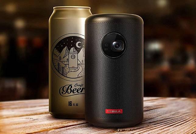 同類選擇:Anker Nebula Capsule II,機身只有啤酒罐咁大,投影畫面卻達100吋,預載較新的Android 9.0系統,售價接近5千。(互聯網)