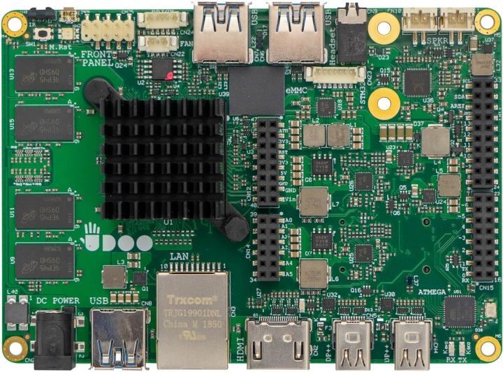 Udoo X86 II的尺寸為120 x 85mm,比Raspberry Pi Model B大上不少。