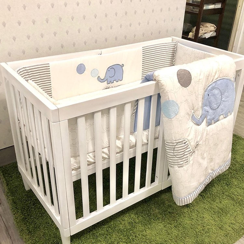喬依思 - 史丹佛6合1多功能書桌嬰兒床-贈6cm床墊-白色 (120X60)