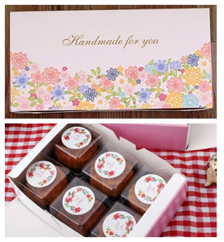 月餅包裝盒 百花開*5個 可放50g月餅6入 想購了超級小物