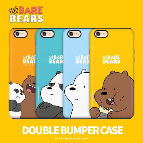We Bare Bears 熊熊遇見你 雙層防摔 手機殼│Note5 Note8 Note9│z7680