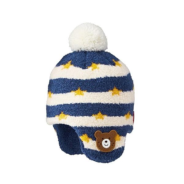 餅乾熊護耳毛線帽