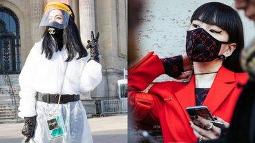 最時髦防疫寶貝!網紅「香奈兒口罩+隔離衣」成時裝週超大亮點,網讚:那面罩哪裡買?