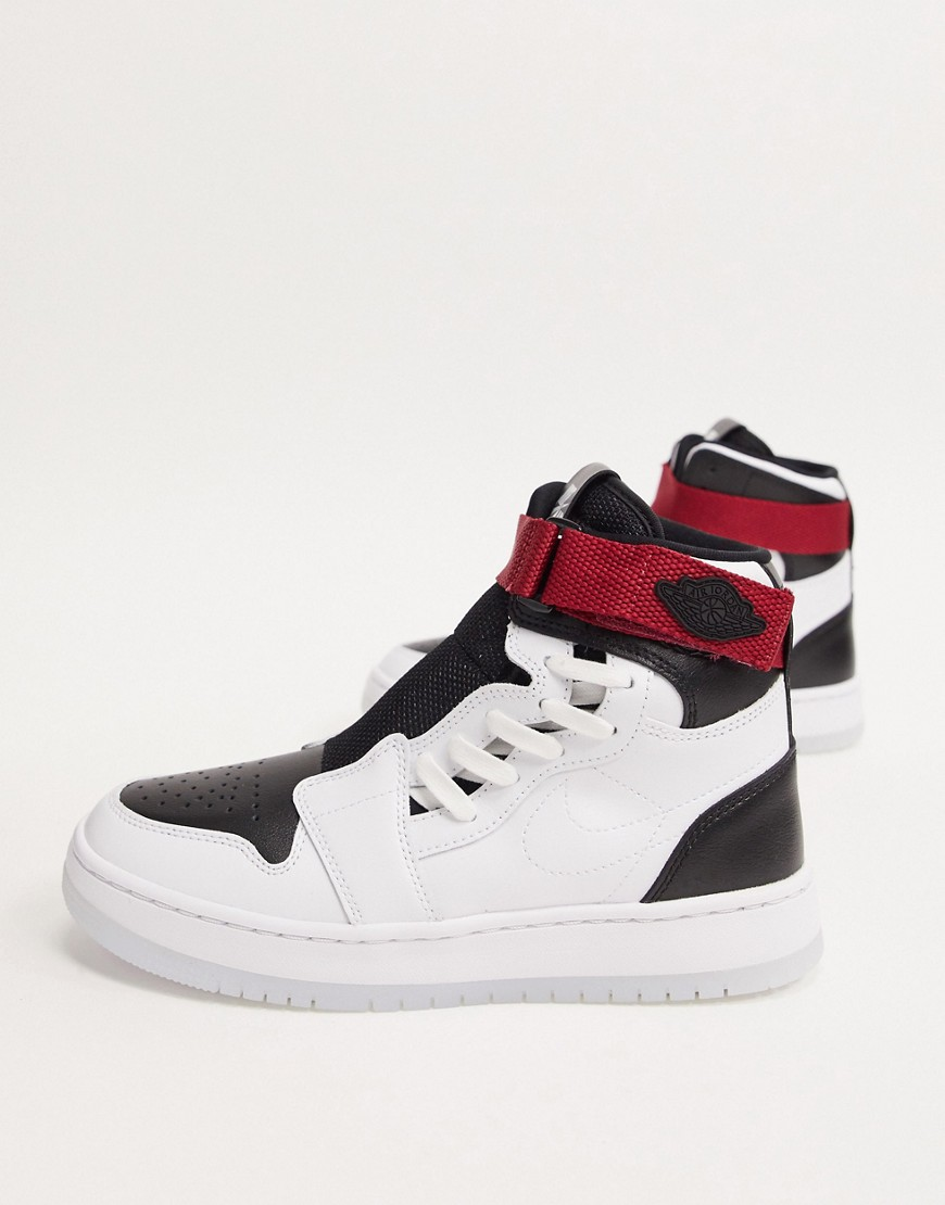 Trainers by Jordan Unboxing potential: considerable Mid height Adjustable ankle strap fastening Faux