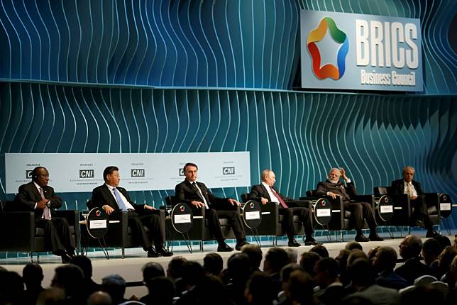 Chinese President Xi Jinping tells BRICS summit 'protectionism and bullying' hurting world economy