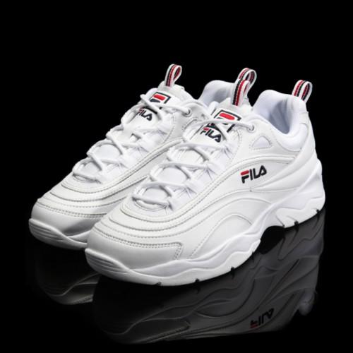 ⋐沃皮斯⋑FILA Ray FS1SIA1160X 厚底 增高 全白復古 老爹鞋 金裕貞
