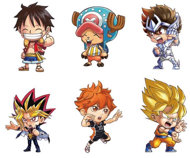 遊戲中的動漫角色還有星矢、索柏、《遊戲王》武藤游憩、《排球少年》日向翔陽等,動漫迷一定玩到熱血沸騰。