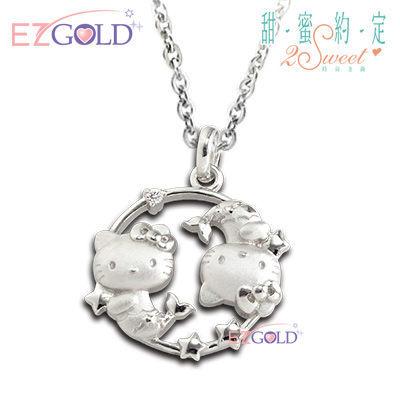 Hello Kitty凱蒂貓 ♥雙魚座(2/19~3/20)♥ 星座銀飾墜子