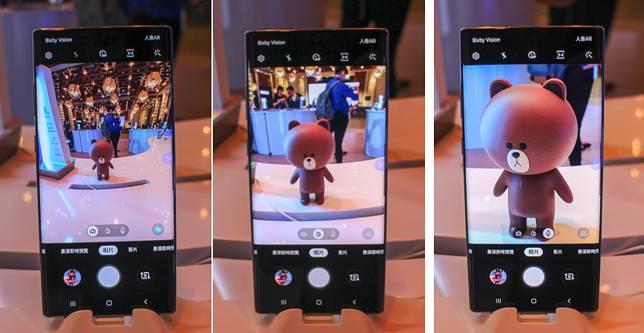 後置的3個鏡頭可以拍出廣角、正常和兩倍變焦的效果。
