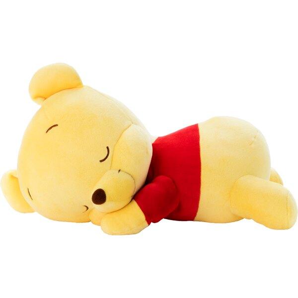 尼德斯Nydus 日本正版 迪士尼 小熊維尼 Pooh 晚安抱枕 絨毛玩偶 娃娃