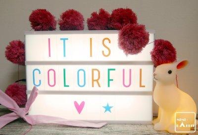 現貨【 Mimi Rabbit 】北歐風 A4字母燈箱 DIY數字燈 兒童房 市集 店面婚禮布置 【彩色厚卡款】
