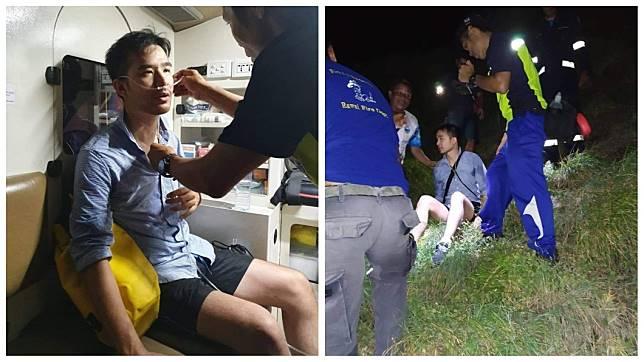 泰國一名男子日前跟著一名女孩走上懸崖,下秒對方突然憑空消失,他當場嚇到腿軟。(圖/翻攝自臉書)