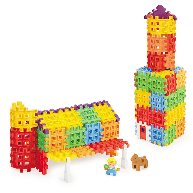 多元的組裝方式,在遊戲中加強精細動作能力。。從2D到3D的積木組合,提升空間概念。。由簡而繁,促進孩子建構能力發展。。色彩造型豐富多變,激發探索動機,培養創造計劃的能力。;哇~格子鬆餅變成積木了!充滿