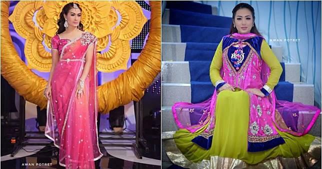 Pesona 8 seleb Tanah Air pakai baju India, bak artis Bollywood