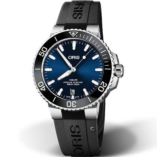 原廠公司貨 日期視窗顯示 黑色陶瓷錶圈 潛水防水300M 不鏽鋼錶殼、橡膠錶帶