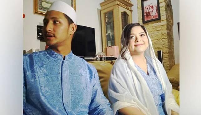 Prosesi akikah anak pertama Tasya Kamila - Randi Bachtiar di kediamannya di bilangan Cinere, Depok, Minggu, 19 Mei 2019. TEMPO | Chitra Paramaesti
