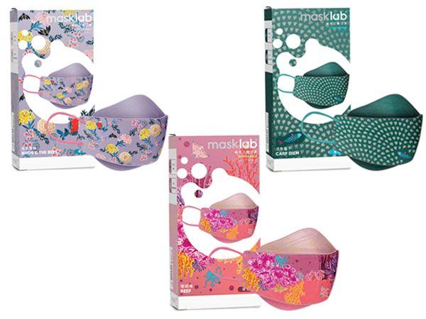 masklab~成人KF韓式立體口罩(盒裝10入)-珊瑚海*1+鳥與蜜蜂*1+活魚當下*1 組合款-2【DS002154】
