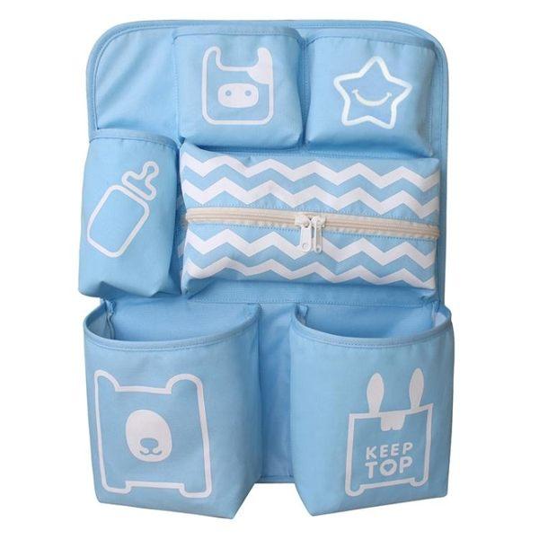 掛袋 嬰兒床收納袋掛袋床頭尿布收納床邊置物袋尿片袋多功能儲物置物架【韓國時尚週】