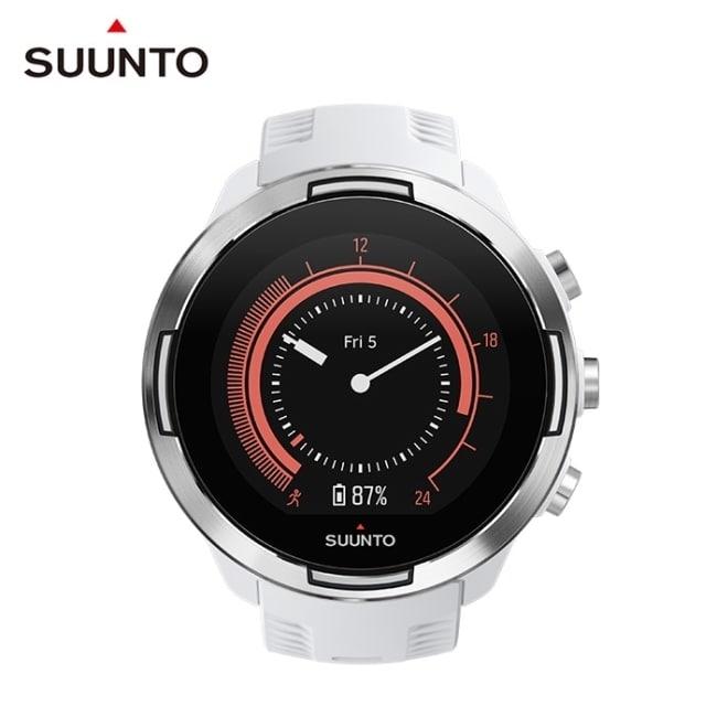 SUUNTO 9 Baro 超長電池續航力及氣壓式高度多項目運動GPS腕錶 (時尚白)