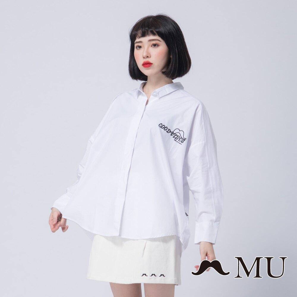 【MU】背後特殊剪裁鬍子印花襯衫(2色)8913262。人氣店家marua的MU by maru.a、衣料品有最棒的商品。快到日本NO.1的Rakuten樂天市場的安全環境中盡情網路購物,使用樂天信用
