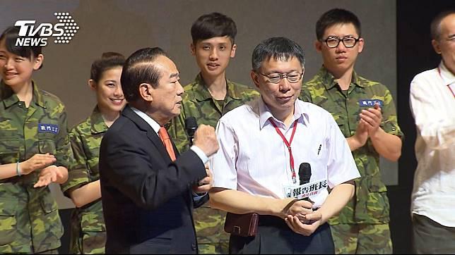 親民黨主席宋楚瑜(左)、台北市長柯文哲(右)。圖/TVBS資料照