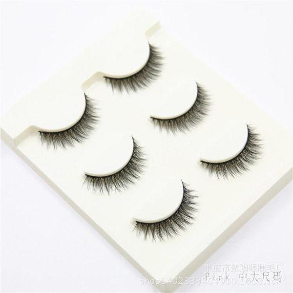 新款3D立體假睫毛K-3自然逼真濃密超柔軟型眼睫毛3對純手工3D立體假睫毛LZ317【Pink 中大尺碼】
