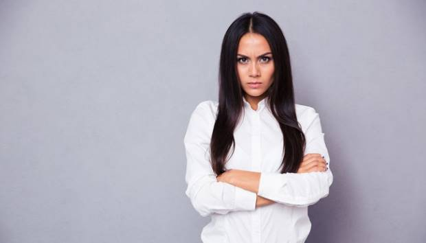 Ilustrasi wanita menahan amarah. shutterstock.com