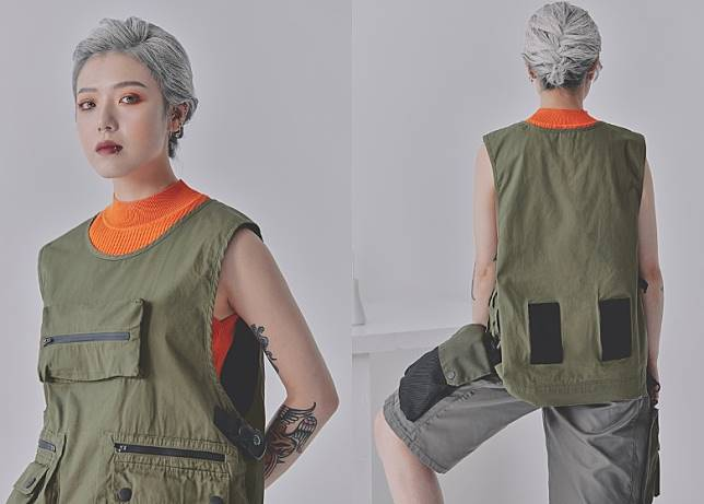Pullover Vest in Olive(互聯網)