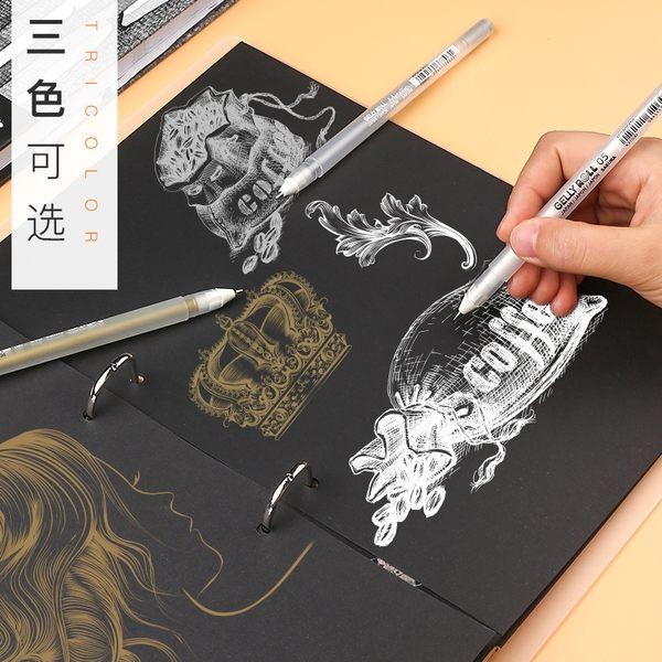 【TT】白色記號筆不掉色輪胎筆手繪高光油漆筆防水銀色金色油性簽名簽字筆補漆繪畫塗鴉