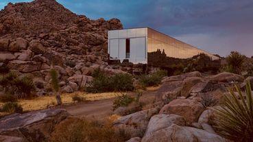彷若變形金剛電影場景,隱匿於荒漠的鏡中之屋「Invisible House」