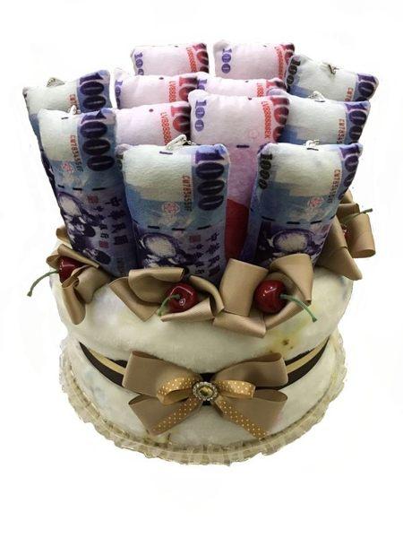 娃娃屋樂園~生日蛋糕/鈔票蛋糕/毛毯蛋糕-六六大順生日禮物 每個3000元/生日蛋糕/彌月禮