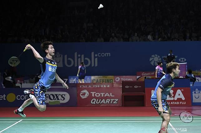 Kalahkan pasangan China, Marcus/Kevin melaju ke babak semifinal