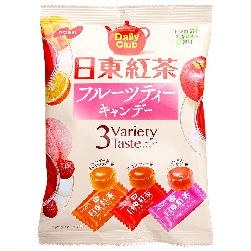 日本原裝進口 一次品嘗三種類紅茶風味糖果 隨時來一顆滋潤味覺 糖果點心好選擇