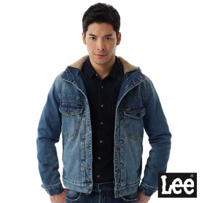 Lee 連帽牛仔外套/101+-男款-藍色