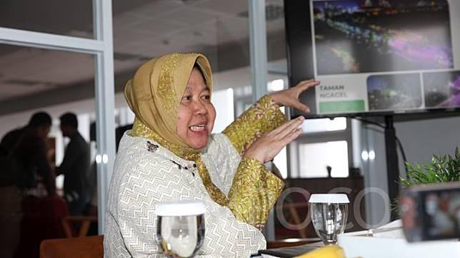 Walikota Surabaya Tri Rismaharini saat berkunjung ke kantor redaksi Tempo, Palmerah, Jakarta, Senin 8 Juli 2019. TEMPO/ Gunawan Wicaksono