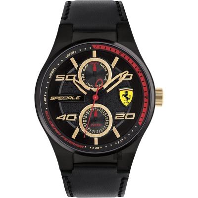 原廠公司貨,義大利風格F1賽車精神,競速感十足具備星期,日期顯示錶盤料號:0830418