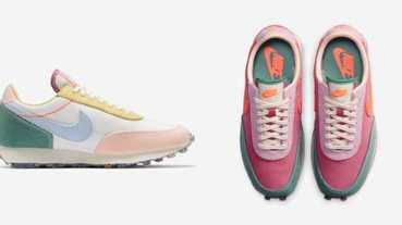 Nike這兩雙粉色復古鞋配色太夢幻!春天嫩草綠、繽紛莓果色,官網限定宅在家就能買!