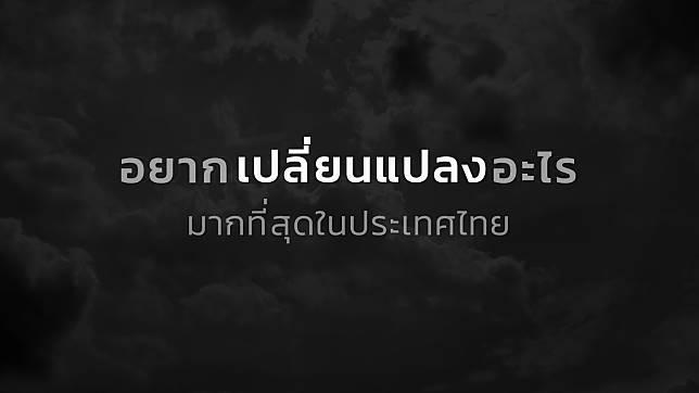 อะไรคือสิ่งที่นักการเมืองอยากเปลี่ยนแปลงมากที่สุดในประเทศไทย