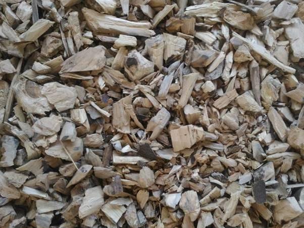 果樹修剪枝條粉碎後,可減少體積,方便處理。(圖片來源:農委會提供)