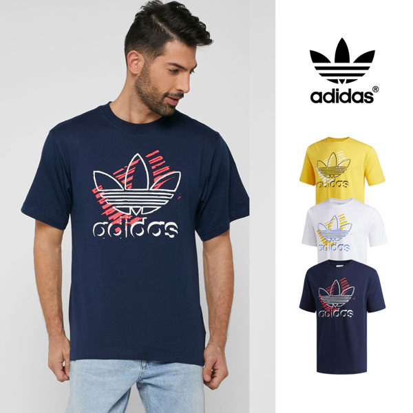 【GT】Adidas Originals 黃 短袖T恤 純棉 運動 休閒 上衣 短T 愛迪達 基本款 三葉草 Logo DV3280